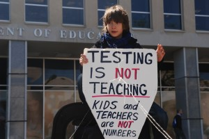 testing is not teaching