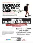 Join CPS and Matt Damon Sept. 13 for  Backpack Full of Cash documentary