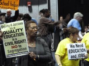 Boston School Closing Protest
