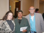 Barbara Fields, center, with Yvonne and Bob Lamothe