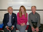 From left, George Abbott White, Rebecca Cusick, Alain Jehlen
